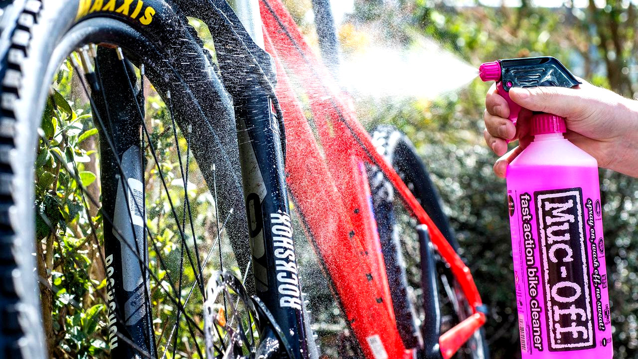 Muc-off bike cleaner.
